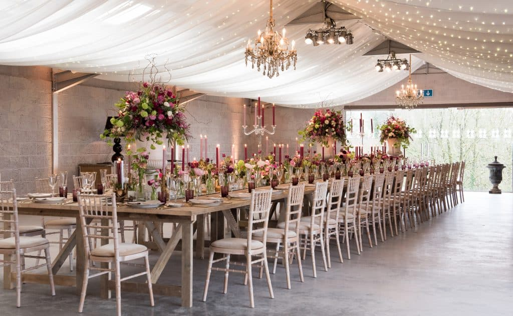 Trestle table arrangement should with pedestals