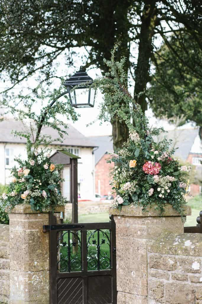 Floral arch at Chetnole Church