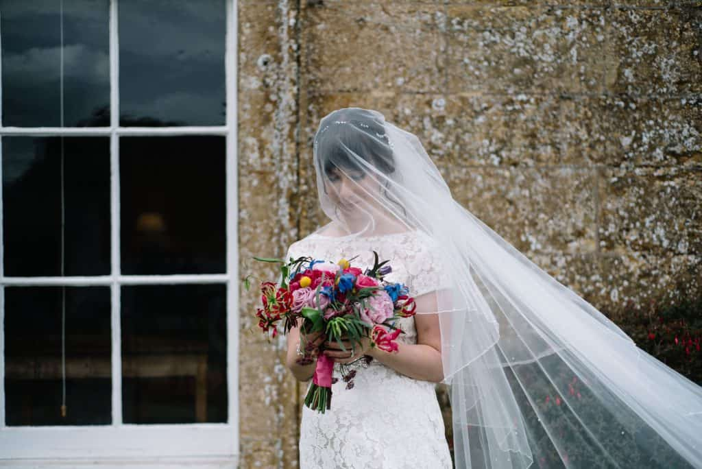 stunning bride and bridal bouquet