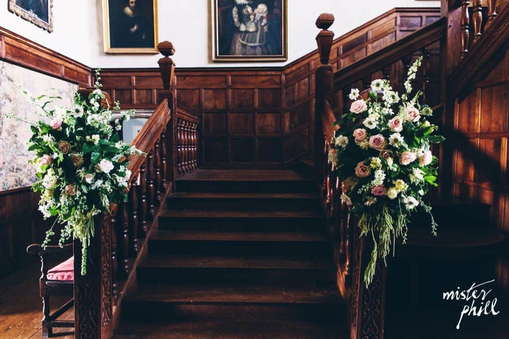 Staircase arrangements at North Cadbury Court