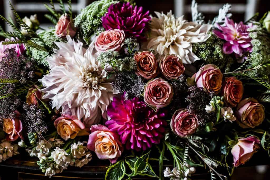 Decadent floral display