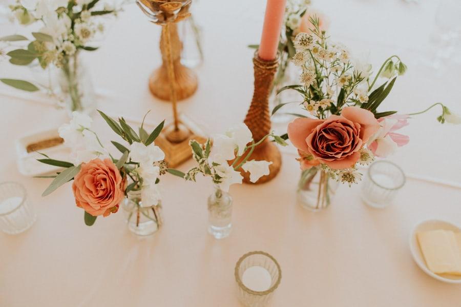 blush vintage flower arrangements