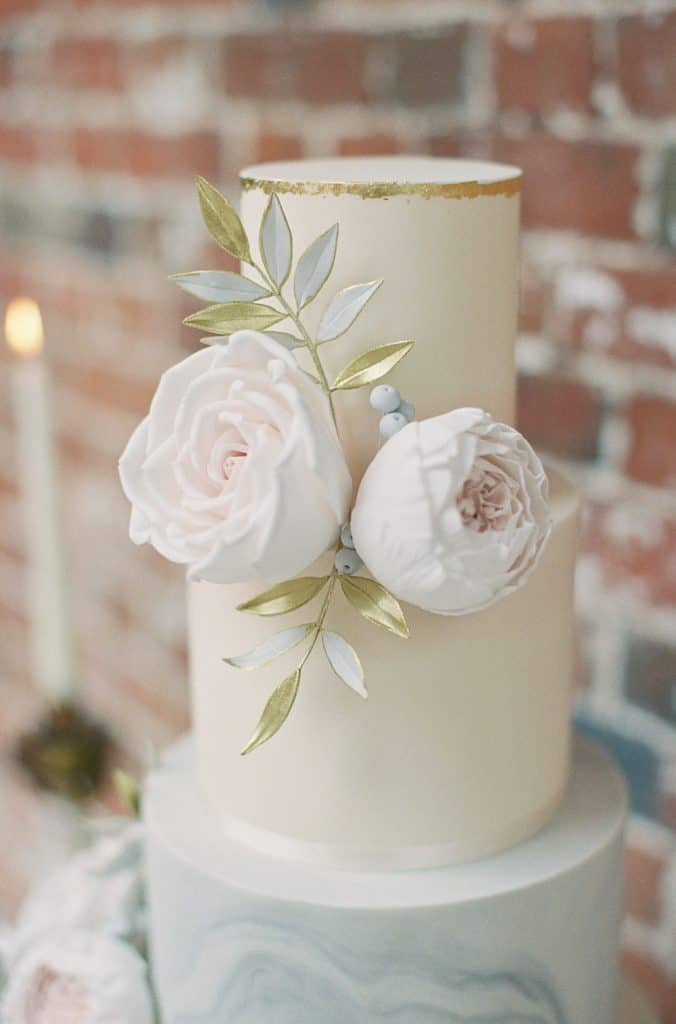 Peony rose cakes rock my wedding