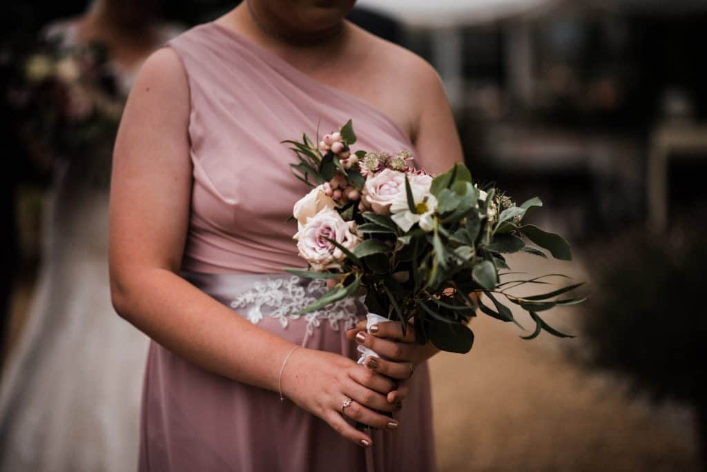 bridesmaids bouquets blush