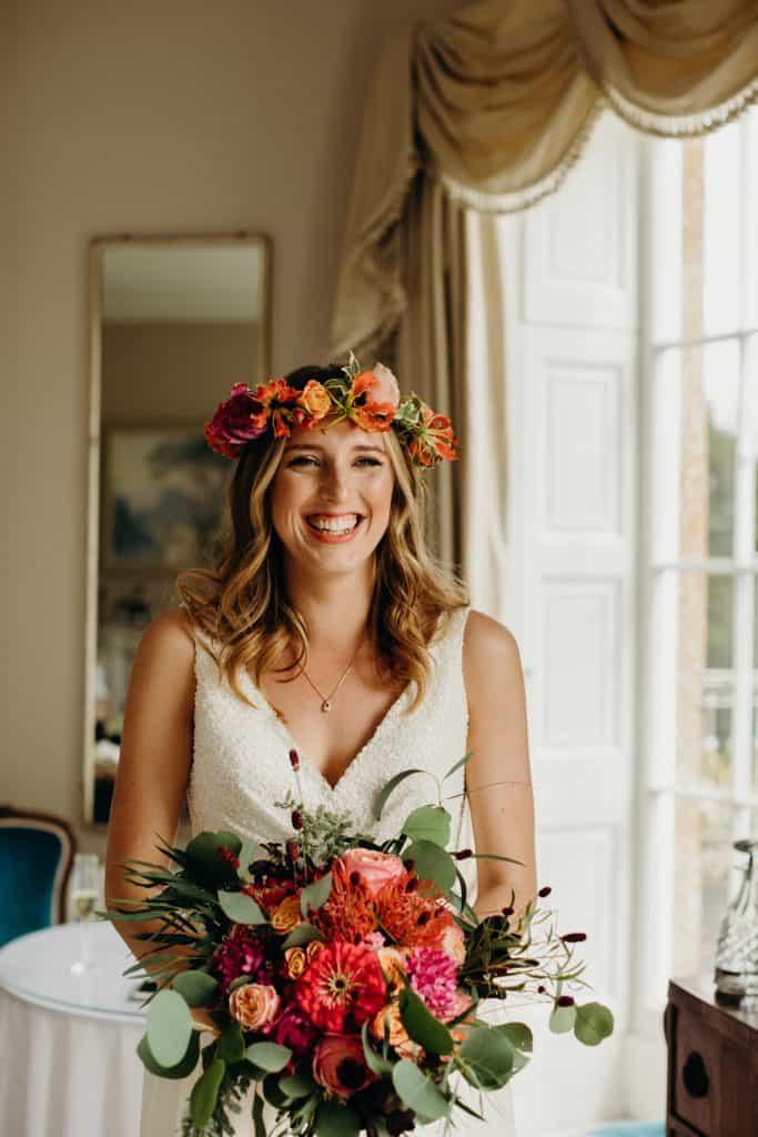 flower crown wedding flowers