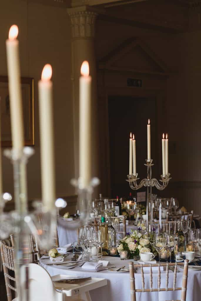 table centres crystal candlebra