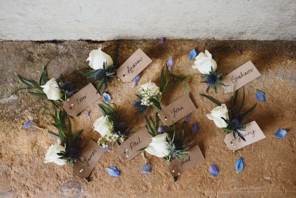 buttonholes wedding flowers somerset