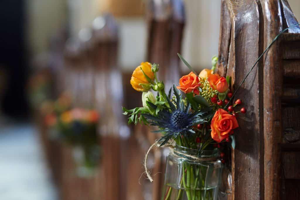 church flowers wedding somerset