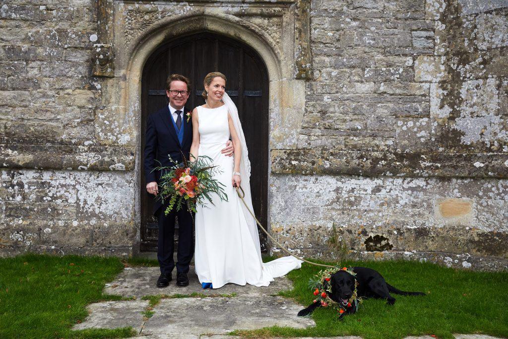 dog wedding flowers