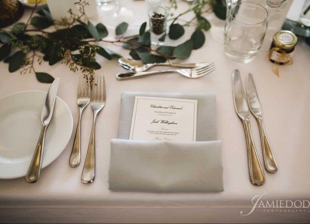 place settings wedding