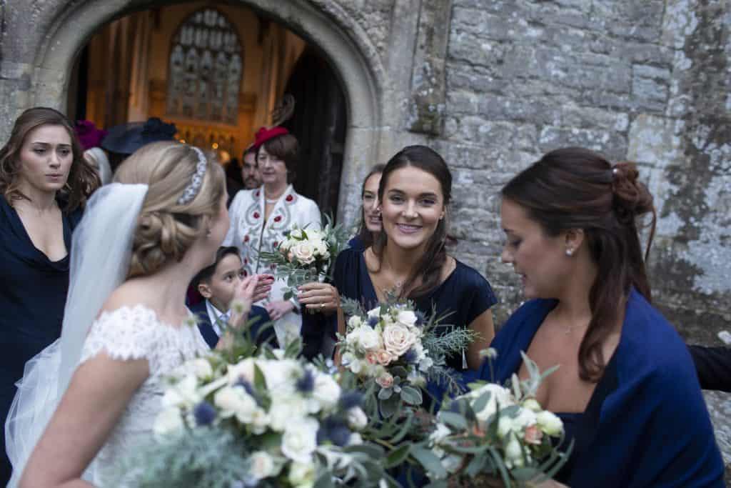 bridesmaids flowers somerset