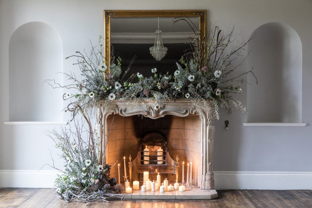 fireplace florals at sparkford hall