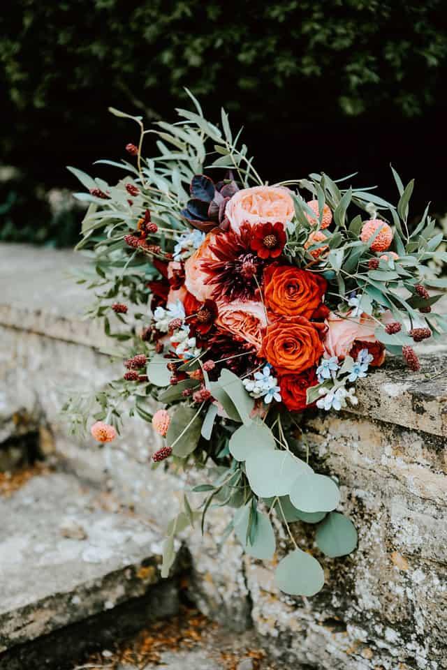 bridal bouquet wedding flowers somerset