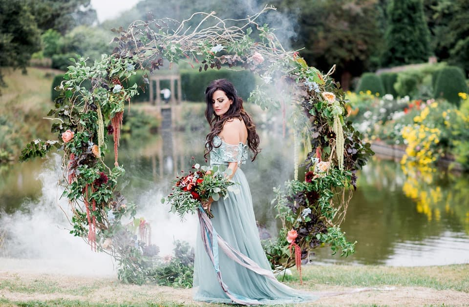 dramatic moon gate florals