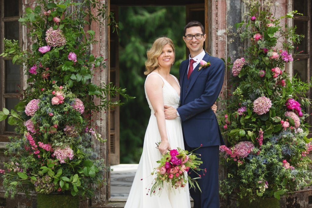 wedding flowers larmer tree wiltshire